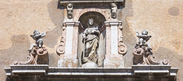 Kirche in Taormina lizenzfreie stockfotos