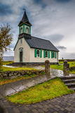 Kirche in Thingvellir-Staatsangehörigem Lizenzfreie Stockfotografie