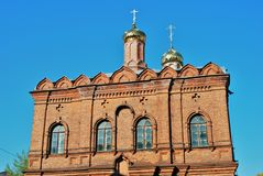 Kirche Tolga Icons der Mutter des Gottes Stockfotos
