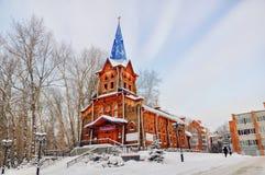 Kirche in Tomsk Stockfotografie