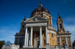 Kirche Turins Superga Lizenzfreies Stockbild