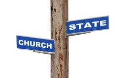Kirche u. Zustand Stockfotografie