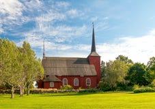 Kirche Ulrica-Eleonora in Kristinestad Stockbild