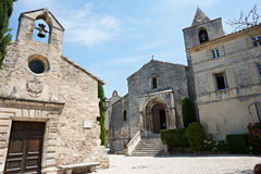 Kirche und cethedral in Baux De Provence lizenzfreies stockfoto