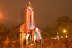 Kirche und Gebäude in Sapa Lao Cai Vetnam stockbilder