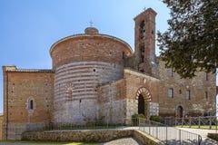 Kirche und Kapelle von Montesiepi, Toskana, Italien Stockfotos