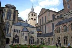 Kirche und Kloster im Trier Stockbild