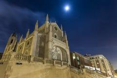 Kirche und Kloster in Madrid Stockfoto
