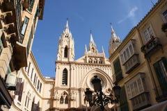 Kirche und Umlagerungen (Màlaga, Spanien) stockbild