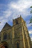 Kirche und Wolken Stockfoto