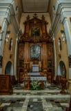 Kirche unsere Dame in Lomza Stockfotos