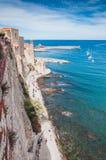Kirche unserer Dame der Engel in Collioure, Frankreich lizenzfreie stockfotografie