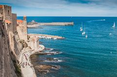Kirche unserer Dame der Engel in Collioure, Frankreich stockfotos
