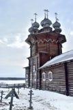 Kirche unserer Dame der Fürbitte auf Kizhi-Insel in Russland Stockbilder