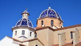Kirche unserer Dame des Trostes in Altea lizenzfreie stockfotografie