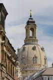 Kirche unserer Dame in Dresden Stockbilder