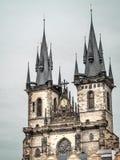 Kirche unserer Dame in Praque Stockbild