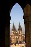 Kirche unserer Dame Before Tyn, Prag Stockbild