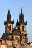 Kirche unserer Dame Before Tyn, Prag Stockbilder