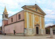 Kirche unserer Dame von Engeln in Porec, Istria, Kroatien stockfoto