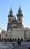 Kirche unserer Dame vor Týn Stockbilder