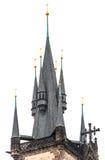 Kirche unserer Dame vor Tyn in Prag Stockfotografie