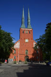 Kirche in Växjö, Schweden lizenzfreie stockbilder