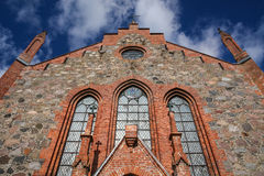 Kirche in Viljandi Stockfotografie