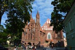 Kirche in Vilnius, in Europa lizenzfreies stockbild