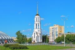 Kirche von Überziehschutzanlage Sergius von Radonezh und von Yelizaveta in Yekaterrinburg stockfotografie