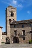 Kirche von Ainsa Stockbilder