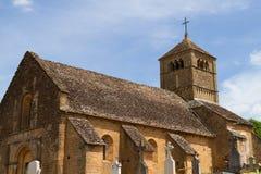 Kirche von Ameugny Stockfotografie
