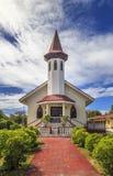 Kirche von Avatoru, Rangiroa - Französisch-Polynesien Stockfotografie