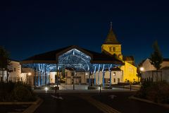 Kirche von Beauvoir-sur-MER im Vendee, Frankreich Stockbild
