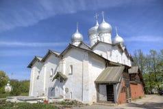 Kirche von Boris und von Gleb bei Plotniki stockbilder
