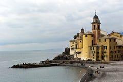 Kirche von Camogli in Italien Lizenzfreies Stockbild