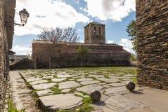 Kirche von Campillo de Ranas, Guadalajara, Spanien Stockbild