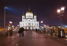 Kirche von Christ der Retter in Moskau Stockbild