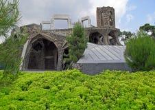 Kirche von Colonia Guell lizenzfreies stockfoto