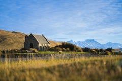 Kirche von der gute Hirte am See Tekapo lizenzfreies stockbild