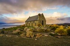 Kirche von der gute Hirte am See Tekapo lizenzfreies stockfoto