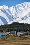 Kirche von Der gute Hirte, Tekapo, Neuseeland Lizenzfreies Stockfoto