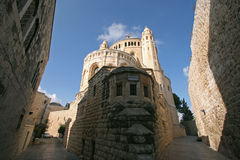 Kirche von Dormition auf dem Mount Zion, Jerusalem Stockfotos