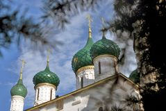 Kirche von Elija der Prophet in Yaroslavl Russland Stockbilder