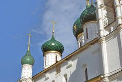Kirche von Elija der Prophet in Yaroslavl Russland Lizenzfreies Stockfoto