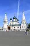 Kirche von Elija der Prophet an YAROSLAVL-Stadt, Russland Lizenzfreie Stockbilder