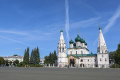 Kirche von Elija der Prophet an YAROSLAVL-Stadt, Russland Stockfotografie
