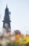 Kirche von Freiburg in Deutschland stockbild