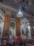 Kirche von Gesu in Nizza, Frankreich Stockfotografie