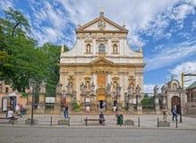 Kirche von Heiligem Peter und von Paul, Krakau, Polen stockbilder